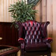 Retro leather chair — Stock Photo