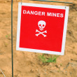 Danger mines - Foto Stock