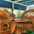 Wicker furniture - Foto Stock