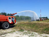 Extinguishing fire — Stock Photo