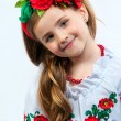Young pretty girl in a ukrainian national costume — 图库照片