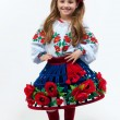 Young pretty girl in a ukrainian national costume — Stock Photo #3377876