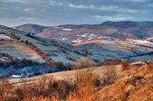 Morning landscape Carpathian Mountains — Stock Photo
