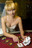 Bride casino — Stock Photo