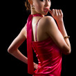 Beautiful brunette woman in evening dress — Stock Photo #3600906