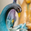 Statuettes of porcelain birds blue - Stock Photo