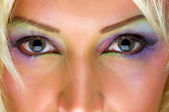 Szare oczy — Zdjęcie stockowe