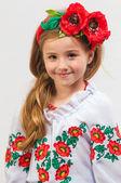 Jong meisje op een witte achtergrond — Stockfoto