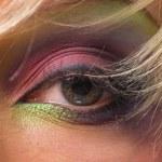 Eye women beautiful green color — Stock Photo