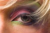 Oog vrouwen prachtige groene kleur — Stockfoto