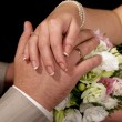 hands of newlyweds — Stock Photo #3765059
