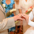 hands of newlyweds — Stock Photo #3856115