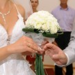 Hands of newlyweds - 