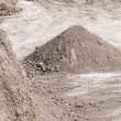 Industrial pile of gravel — Stock Photo