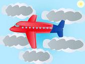Plane flying to sky — Stock Photo