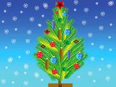 Ona oyuncak natty köknar ağacı — Stok fotoğraf