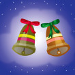Two festive campanulas — Stock Photo