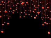 Red valentine night — Stock Photo