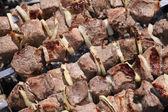 Ruddy shish kebab — Stock Photo