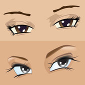 Menina de olhos — Vetorial Stock