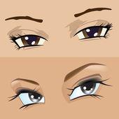 眼睛的女孩 — 图库矢量图片