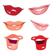 Set women lips — Stock Vector