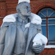 Stock Photo: Neglected monument of Vladimir Lenin
