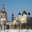 Stock Photo: Old orthodox church in winter, Russia