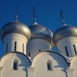 Luna e la cupola della Cattedrale di Sofia — Foto Stock