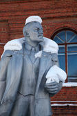 Neglected monument of Vladimir Lenin — Fotografia Stock