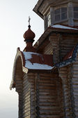 Wooden orthodox church exterior, Russia — Stock Photo