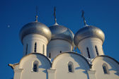 Moon and cupola of Sophia cathedral — Stock Photo