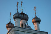 Old orthodox church cupolas, Russia — Stock Photo