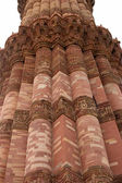 Qutb Minar tower close-up, India — Stock Photo