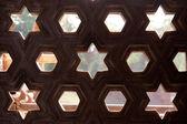 クトゥブ ・ ミナール、インドの石のパターン — ストック写真