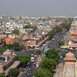 Stock Photo: Jaipur streets panorama, India