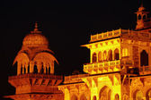 Central museum at night, Jaipur, India — Stock Photo