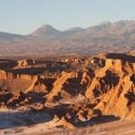 Atacama Desert in evening, Chile — Stock Photo