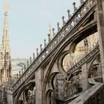 techo de la catedral del duomo — Foto de Stock