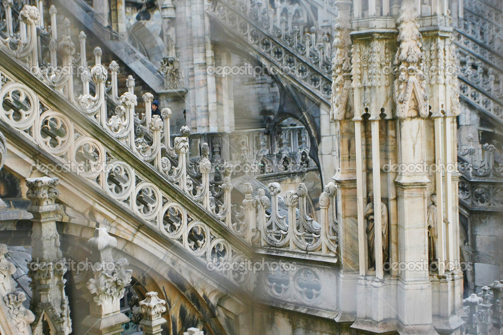 Roof of duomo cathedral in milan, italy  — Stock Photo #2709915