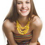 Portrait of beauty happy woman — Stock Photo