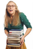 Beauty young student with books — Stock Photo