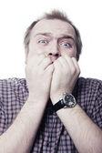 Muž ve strachu — Stock fotografie
