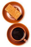 Caffee and honey cake — Stock Photo