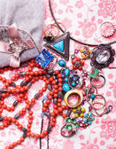 Luxury colorful accessories — Stock Photo