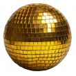 Gold discoball - Foto Stock
