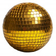 Gold discoball - Stock Photo
