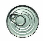 Isolated lid of tin can on white — 图库照片