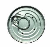 孤立的白色的锡罐盖 — 图库照片