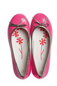 Pink fashion glomour shoes — Stock Photo